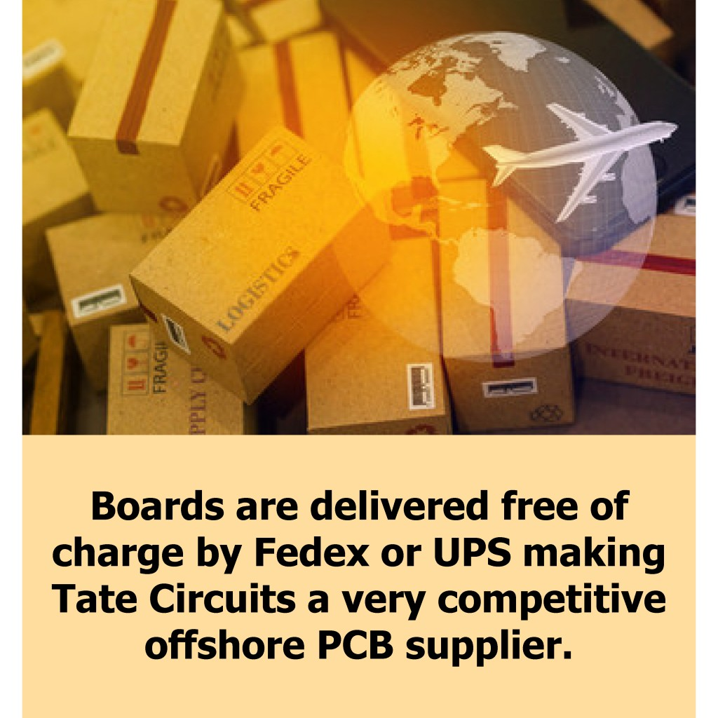 PCB deliveries from China by UPS and Fedex