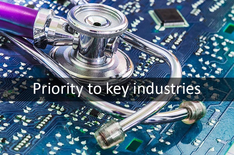Priority PCB production space for key industries