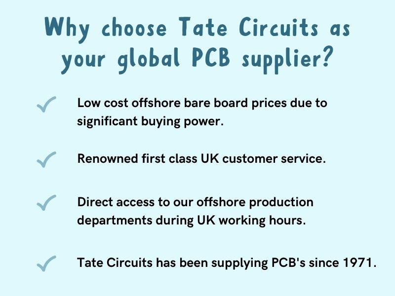tate circuits-uk-printed-circuit-board-supplier-global